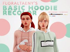 The Sims 4 FLORALTAENY'S BASIC HOODIE RECOLOR Sims Four, Sims 4 Mm Cc, My Sims, Sims 4 Mods, Sims 4 Game Mods, Maxis, Pelo Sims, Basic Hoodie, Sims4 Clothes