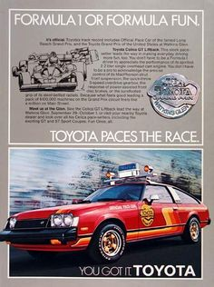 1979 Toyota Celica Pace Car Ad