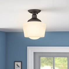 Semi flush ceiling lights. Affordable high style lights for low ceilings. Get gorgeous ceiling lights even if you don't have vaulted ceilings.