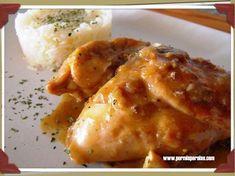 Conejo en salsa Steak Recipes, Grilling Recipes, Meat Steak, Churros, Deli, Bbq, Chicken, Food, Animals