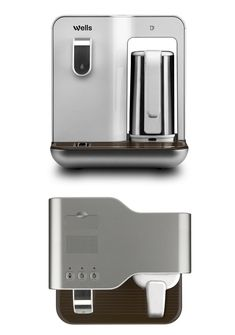 Wells Smart Mini is a water purifier that can pour out chilled drinking water and double up as an electric kettle. The idea is that spaces Caravan Makeover, Domestic Appliances, Purified Water, Electric House, Coffeemaker, Water Dispenser, Design Lab, Docking Station, Coffee Machine