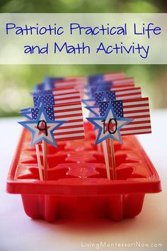 Patriotic Practical Life and Math Activity and Montessori Monday Link-Up Collection