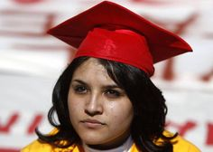 A tear runs down the cheek of illegal immigrant Dayanna Rebolledo, 21, before her arrest for blocking traffic in Atlanta during a protest calling for rights for illegal immigrants for higher education.