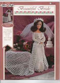 FIBRECRAFT doll's beautiful bridal ensemble crochet PATTERN