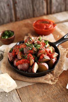 Spicy Patatas Bravas | minimalistbaker.com