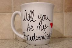 Will You Be My Bridesmaid bridal party mug by simplymadegreetings, $11.00