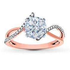 Diamond Engagement Ring Setting 1/8 ct tw 14K Rose Gold