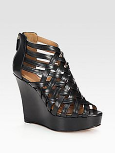 Get the must-have platforms of this season! These Givenchy Black Lattice Wedge Sandals Platforms Size US 7 are a top 10 member favorite on Tradesy. Black Platform, Platform Wedge, Black Wedge Sandals, Designer Shoes, Me Too Shoes, Givenchy, Espadrilles, Wedges, Shoe Bag