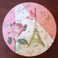5cca149cb2ace Con el stencil Paris de Laura Craft y el de rostias y un cuarto de  servilleta