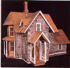 Stone Arts and Crafts Style dollhouse