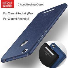 Msvii coque für xiaomi redmi 3 pro case hart bereifte pc zurück abdeckung 360 vollen schutz gehäuse für xiaomi redmi 3 s 10 stile