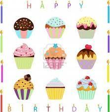 birthday cupcake cartoon