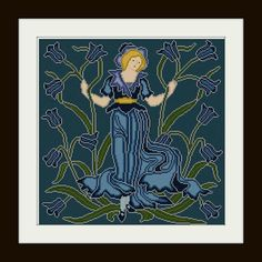 Bluebell+Flower+Fairy+cross+stitch+pattern+PDF+by+Whoopicat,+$6.00