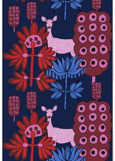Kaunis kauris fabric | Cotton Fabrics | Marimekko - great curtains for my bedroom - all its colors are in it :)