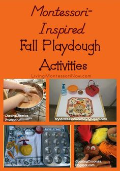 I LOVE all the fun activities for kids in the fall. Today, I want to share some Montessori-inspired fall playdough activities.