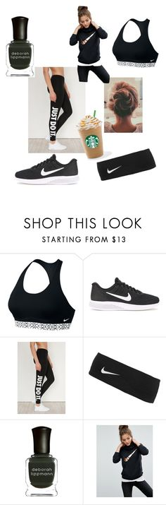 """""""Nike- Just Do It"""" by marifercalleja ❤ liked on Polyvore featuring NIKE and Deborah Lippmann"""