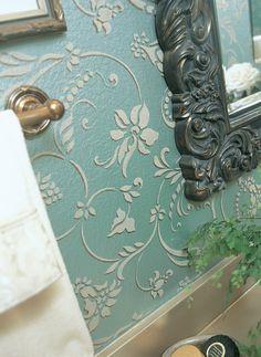 Flower Stencils | Small Flourish Wall Stencils | Royal Design Studio