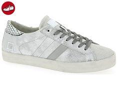 D.a.t.e. HILL LOW-16 Sneakers Damen Leder/nylon Silber Silber 37 D.A.T.E. Billig Store dXxKK8GAX