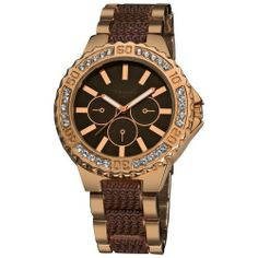 Vernier Women's VNR111-23RG Round Rose and Brown Chrono-Look Bracelet Watch Vernier. $34.00. Water-resistant to 10 M (33 feet). Durable mineral crystal protects watch from scratches,. Japanese-Quartz movement. Boyfriend sized Dial with Genuine Crystal Stones along the Bezel. Case diameter: 41 mm. Save 60% Off!
