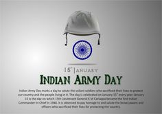Indian Army Day - January Indian Army Day marks a day to salute the valiant soldiers who sacrificed their lives to protect our country and the people Ads Creative, Creative India, Love Romance Kiss, Indian Army Special Forces, Happy Independence Day Images, Indian Army Quotes, Name Tattoos For Moms, Army Day, Desi Quotes