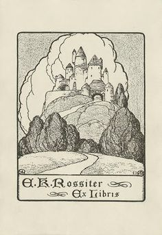 Bookplate of American architect and author Ehrick Kensett Rossiter (1854-1941)
