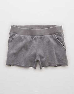 Aerie Fuzzy Short, Slab Gray | Aerie for American Eagle