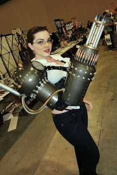 Steampunk Arm | Steampunk girl with arm cannon | Flickr - Photo Sharing!