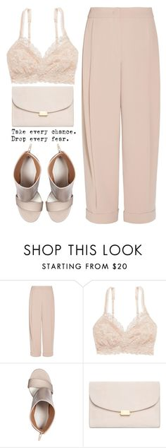 """""""Chick In Pink"""" by theapapa ❤ liked on Polyvore featuring Emporio Armani, American Eagle Outfitters, Maison Margiela and Mansur Gavriel"""