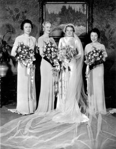 Vintage Fashion Brides, grooms, bridesmaids, wedding dresses: Cleveland fashions - A look at two decades of brides and the dresses worn on their perfect day. 1930s Wedding, Vintage Wedding Photos, Elegant Wedding Dress, Vintage Bridal, Wedding Dress Styles, Wedding Attire, Wedding Bride, Vintage Weddings, Wedding Pictures