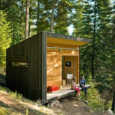 A tiny off-the-grid cabin in Wallowa County, Oregon