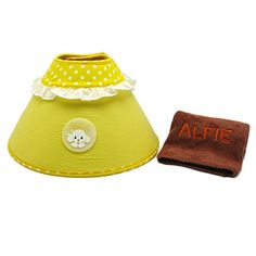 Alfie Pet by Petoga Couture  Candace Soft Recovery Collar for Dogs and Cats and Microfiber FastDry Washcloth Set  Color Yellow Size Medium >>> Check out the image by visiting the link.Note:It is affiliate link to Amazon.