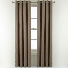 ROYAL VELVET Royal Velvet Smokey Grey Whittier Grommet-Top Curtain Panel. Classy look and around 80% off right now! Great deal for those ready to purchase. #homedecor #curtain #affiliate