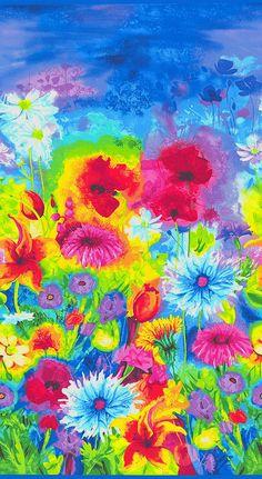 Ambrosia - Wildflower Happiness Border - Azure Blue