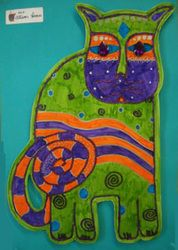 6th Grade Cat and Flower Art - The Art Pound