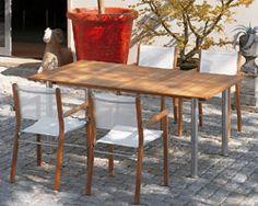 Gartentisch FISCHER «Domido» Tisch Holztisch mit Edelstahlgestell | Gartenmöbel Fachhandel