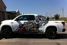 One Wheel Felons Vehicle Wrap by Marissa Plett, via Behance