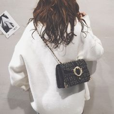 c883949904 ins small bag female 2019 New Wave Korean version of the wild 2019 female  bag fashion student chain new messenger bag
