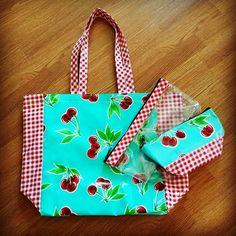 The Cherry Aqua is a perfect summer lovin' bag! Pictured our Market Tote $30…