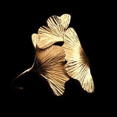 Bracelet Ginkgo d'Or - Trois Feuilles