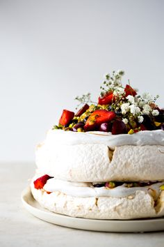 An Australian Christmas classic made vegan using the magic of aquafaba (chickpea water). Crisp meringue embedded with pistachios, topped with pillowy vanilla whipped coconut cream, berries tossed with golden saffron sugar, crunchy-tart passionfruit and an extra scattering of pistachios. Pavlova. An Australian Christmas would not be complete without one. It's tradition, just as a Christmas pudding is tradition in England. Trifle plays it's part here sure, but I was never particularly ...