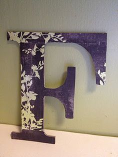 F using DIY modge podge and scrapbook paper