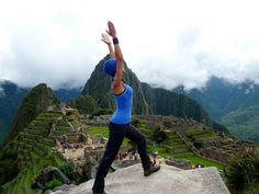 Needed a good stretch at the top after four days of trekking at high altitude