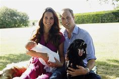 Duchess Kate and Prince William After the world spent months of watching Kate's baby bump in anticipation of the royal birth, the proud parents welcomed their son, Prince George Alexander Louis, on July 22. One month later, the royal couple released their first family photo (left), which was taken by Kate's father at her parents' home in Buckleburry, England.