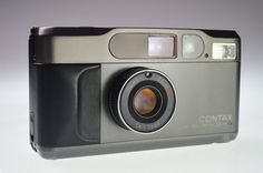 Contax T2 Titan Black 35mm Point & Shoot Film Camera Excellent #Contax