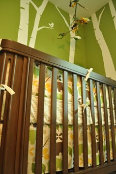 woodsy nursery ideas | Warm and Woodsy, This baby's room is a mixture of woodsy and modern. I ...