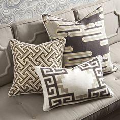 Patterned - Peking Greek Key Border Pillow