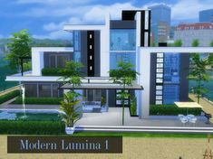 I introduce you a four storey minimalist modern home, Found in TSR Category 'Sims 4 Residential Lots'