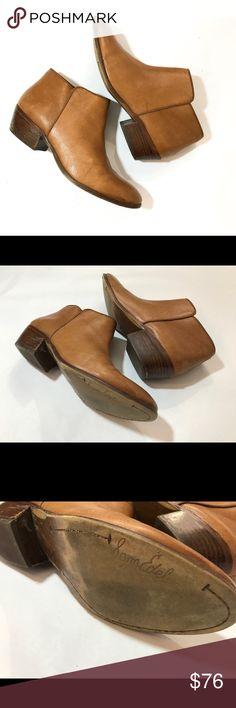 1f78887980e7 Tan Brown Sam Edelman Booties Side Zip Warm tan brown toned Sam Edelman  heeled booties