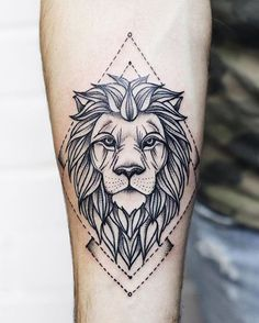 lion tattoo on arm #armtattoosdesigns