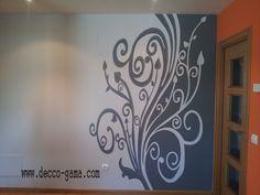Mural pintado , ornamental para salon